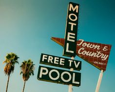 Town and Country Motel Neon Sign