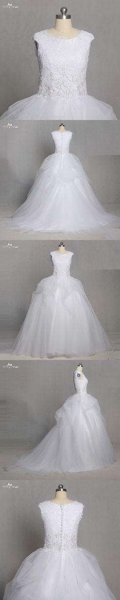 TW0224 Applique with Beading Cape Sleeve Puffy Vestido Branco Vestido De Noiva