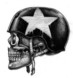 Skulls have long been a part of motorcycle culture from bikes to gear. Find out which motorcycle helmets feature the most badass skull design. Skull Motorcycle Helmet, Skull Helmet, Helmet Tattoo, Art Harley Davidson, Skull Sketch, Oldschool, Skull Tattoos, Biker Tattoos, Art Tattoos