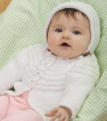Ribs All Around Baby Jacket and Bonnet | FaveCrafts.com