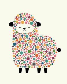 Bubble Sheep Art Print
