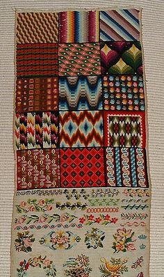 19th Century German Or Austrian Sampler (4) eBay