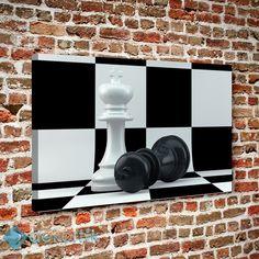 BW Satranç Tablo #kanvas_tablo #siyah_beyaz_tablolar #siyah_beyaz_kanvas_tablolar