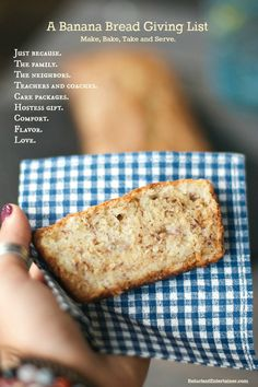 This BEST ever Sour Cream Banana Bread recipe is delicious and moist. It's truly the best ever recipe, so make a loaf and give it away! Banana Sour Cream Cake, Greek Yogurt Banana Bread, Moist Banana Bread, Baked Banana, Sweet Crepes Recipe, Fruit Bread, Breakfast Dessert, Banana Bread Recipes, Cooking Recipes