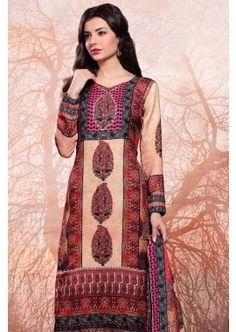 Cream Platinum Rayon Salwar Kameez, - £83.00, #OnlineDresses #EidSepcialDresses #SalwarKameez #Shopkund