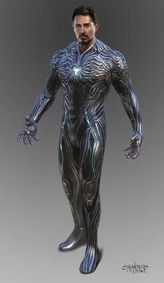 Avengers: Infinity War - Iron Man Mk 50 suit-up, Phil Saunders Iron Man 3, Iron Man Suit, Iron Man Armor, Marvel Concept Art, Marvel Art, Marvel Heroes, Marvel Avengers, Iron Man Wallpaper, Iron Man Avengers