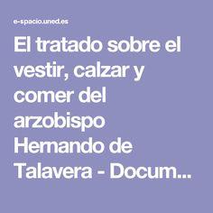 El tratado sobre el vestir, calzar y comer del arzobispo Hernando de Talavera - Documento.pdf