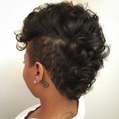 Atlanta Based Stylist  @hairbylatise Curl that Mohawk ...Instagram photo | Websta (Webstagram)