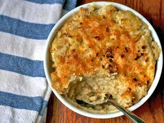 Cauliflower mac n cheese - given that the girls both love cauliflower and mac n cheese, this may be worth trying.