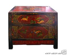 38% off now $1050   Vintage Tibetan FuDog Trunk Table TV Stand Cabinet   interior furniture