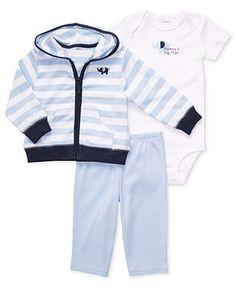 Carters Baby Set, Baby Boys 3-Piece Elephant Cardigan, Bodysuit and Pants - Kids Baby Boy (0-24 months) - Macys
