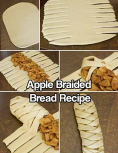 Braided Apple Strudel…a twist on good ol' American apple pie. Making this … Braided Apple Strudel…a twist on good ol' American apple pie. Making this today for the Fourth! Just Desserts, Delicious Desserts, Yummy Food, Apple Desserts, Apple Recipes, Sweet Recipes, Top Recipes, Healthy Recipes, Apple Braid