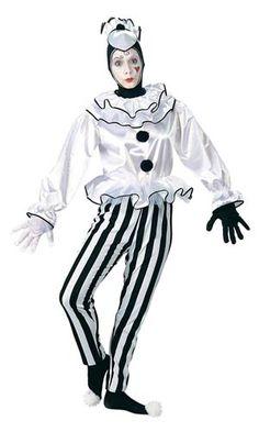 Adult Pierrot Clown Costume - Clown Costumes