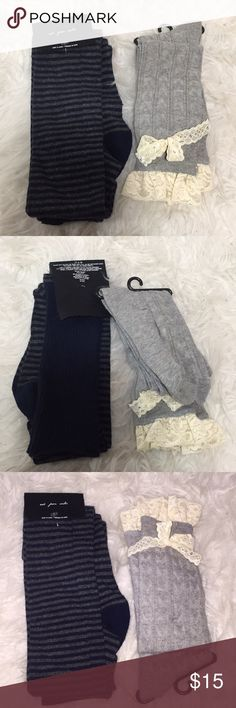 Over the knee socks set of 2 Over the knee socks from Urban Outfitters. For your sweet & tough days. New. Urban Outfitters Accessories Hosiery & Socks