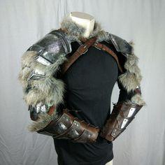 Steel shoulders armor + bracers.