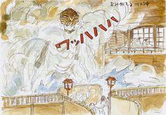 Film: Spirited Away (千と千尋の神隠し) ===== Concept Scene: The River Spirit ===== Hayao Miyazaki
