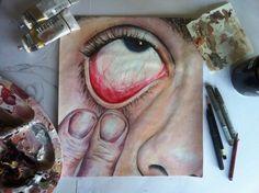 Ideas For Art Sketchbook Portraits Eyes - A Level Art Sketchbook - Kunst Portfolio, A Level Art Sketchbook, Art Alevel, Eye Painting, Arte Horror, Wow Art, Art Drawings Sketches, Portrait Art, Portraits