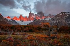 Sunrise in Patagonia - Morning near Fitz Roy in Los Glaciares, Argentina. Crazy colors over there. You can read a story of our 3 weeks there, with lots of photos, here:  https://www.facebook.com/notes/doru-oprisan/patagonia-at-last-enormous-wild-and-beautiful/10157121083045471