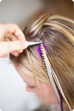 Three scoops of love pencil hairclips ribbon obsession do it yourself feathers for the hair i typically am not a fan of trends but i must admiti want a feather in my hair solutioingenieria Choice Image