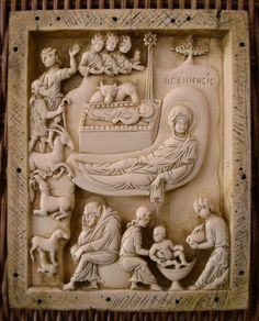Vatican Nativity Plaque by Unknown artist, made from a mold of a or century original. Available to purchase from The New York Metropolitan Museum of Art store Byzantine Icons, Byzantine Art, Historical Artifacts, Ancient Artifacts, Empire Romain, Christian Artwork, 11th Century, Medieval Art, Ivoire