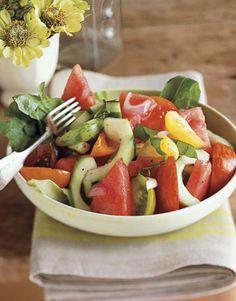 Tomato, Melon and Cucumber Salad