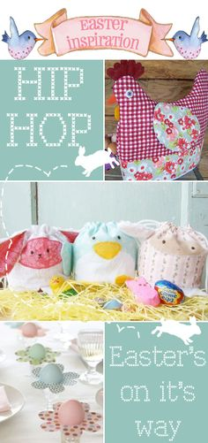Fun hen warmer basket cover and cute animal bags patterns to buy or for inspiration.