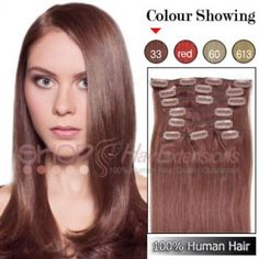 20 inches 6pcs clip in human hair extensions straight 33 rich 20 inches 6pcs clip in human hair extensions straight 33 rich copper red cheap hair extensions pinterest human hair extensions clip in hair pmusecretfo Choice Image