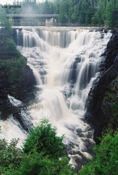 Stop Kakabeka Falls, Kakabeka, Ontario. Camping Places, Places To Travel, Places To See, The Places Youll Go, Camping Cabins, All Nature, Amazing Nature, Quebec, Beautiful World