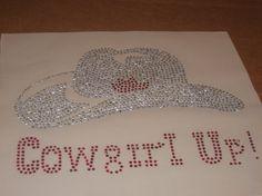 Rhinestone Diy Heat Transfer of Cowgirl Hat & by cthorses66, $8.99
