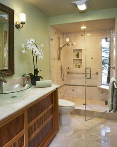Look behind that great tub: there's a walk-through shower ...