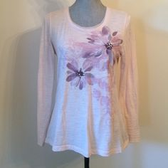 """FLASH SALE Sonoma Top Shades of purple, 100% cotton, the one chiffon petal is not stitched down at the end like the rest, approx length is 23"""". Sonoma Tops Tees - Long Sleeve"""