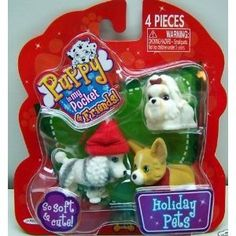 Puppy in my Pocket & Friends Holiday Pets Toy Collectibles 4 Piece Set #cynjam16