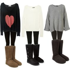leggings with UGGs, and a sweater or sweatshirt! UGGs at Shoedipity.com.