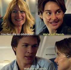 Ansel Elgort and Shailene Woodley in The Fault In Our Stars <3333333