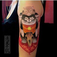 Tattoo of the day - Artist:@akumashugi - @tattooistartmag- #webstagram