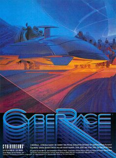 CyberRace is a futuristic single player racing game developed and published by Cyberdreams in 1993 for DOS operating system. It features flying car vehicles, called sleds, designed by industrial designer Syd Mead.