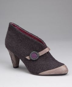 Charcoal Open for Business Bootie