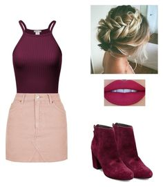 A fashion look from February 2017 featuring purple top, pink skirt and short boots. Browse and shop related looks. Short Boots, My Outfit, Steve Madden, Topshop, Fashion Looks, Purple, Skirts, Polyvore, Outfits