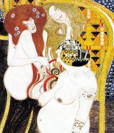 Beethoven Frieze:   Lasciviousness, Gustav Klimt, 1902