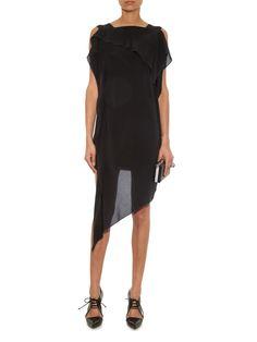 Barrow asymmetric crepe de Chine dress | Acne Studios | MATCHESFASHION.COM US