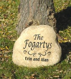 personalized memorial garden stones and engraved river rock garden stones engraved river rock garden stone 10 12 inch - Personalized Garden Stones
