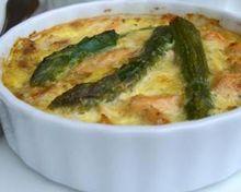 Flan aux asperges et au parmesan Ingrédients pour 6 personnes...