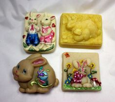 Bunny Lovers Soap Gift Set Soap Making Process, Cold Process Soap, Glycerin Soap, Easter Gift, Fragrance Oil, Bar Soap, Soaps, Bunny, Coconut