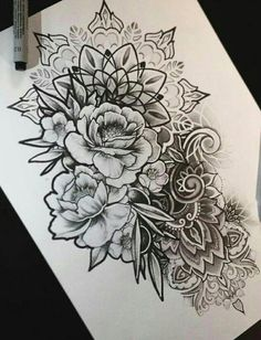 Lace tattoos and mandalas - More than 70 models - Tattoos Ideas - Flower Tattoo Designs - Tatouage Mandala Tattoo Design, Half Mandala Tattoo, Mandala Tattoo Sleeve, Mandalas Tattoos, Flower Tattoo Designs, Tattoo Flowers, Mandala Flower Tattoos, Drawing Flowers, Mandala Tattoo Meaning