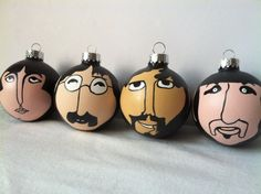 Beatles Fashion - #1BeatlesFan   The Beatles Individual Yellow Submarine Hand Painted Ornament Fab four