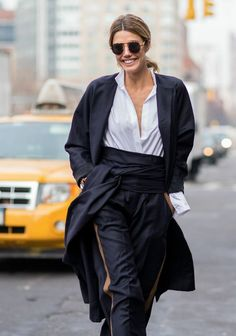 shirt chic. #MarthaGraeff in NYC.