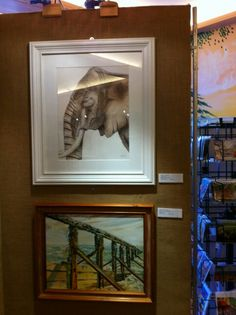 Elephant.  Sepia ink wildlife drawing.  Displayed at the Folkestone Art Society exhibition. Yvonnemayartist.co.uk