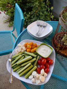 theworldaccordingtoeggface: You Say Tomato, I Say Tomato Recipes Veggie Vegetable Platter Tray with Healthy Greek Yogurt Dip - Tidbit Party Food