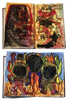 Diary pages 2, Drawing by Frida Kahlo (1907-1954, Mexico)