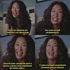 Cristina Yang, Greys Anatomy Frases, Grays Anatomy, Grey's Anatomy Lexie, Lexie Grey, Owen Hunt, Grey Quotes, Sandra Oh, Best Series